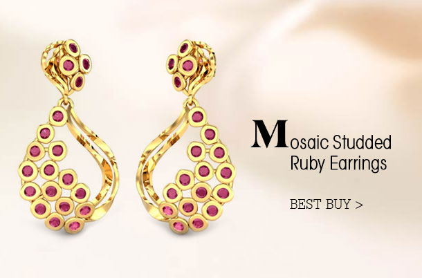 Mosaic-Studded-Ruby-Earrings for the girl who collects jewellery